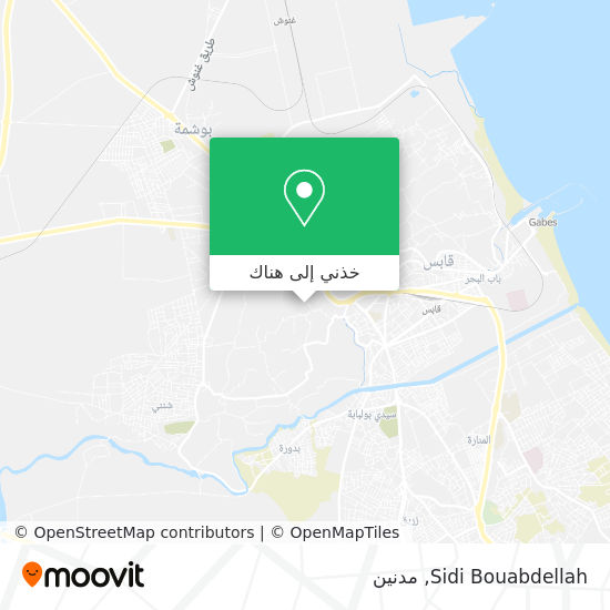 خريطة Sidi Bouabdellah