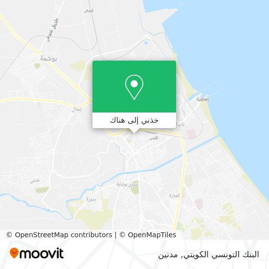 خريطة البنك التونسي الكويتي