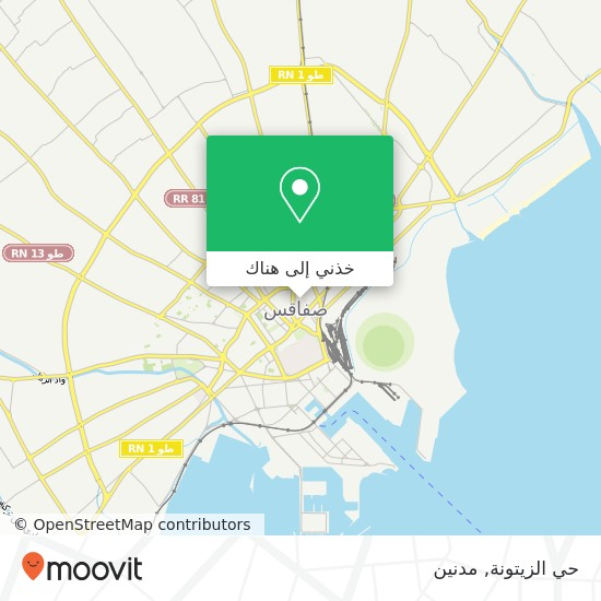 خريطة حي الزيتونة