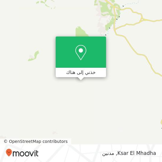 خريطة Ksar El Mhadha