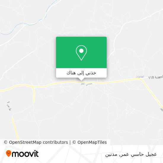 خريطة عجيل حاسي عمر