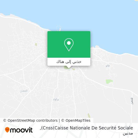 خريطة Cnss(Caisse Nationale De Securité Sociale)