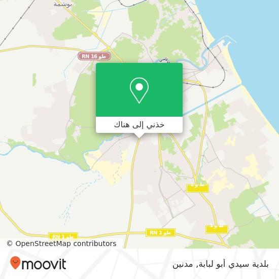 خريطة بلدية سيدي أبو لبابة