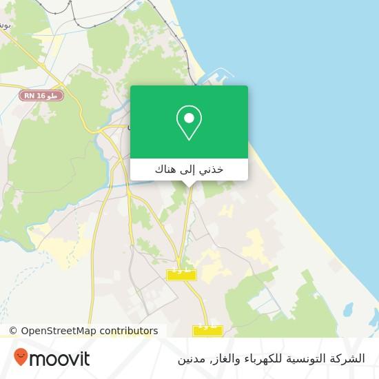 خريطة الشركة التونسية للكهرباء والغاز