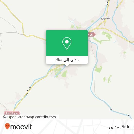 خريطة Sidi