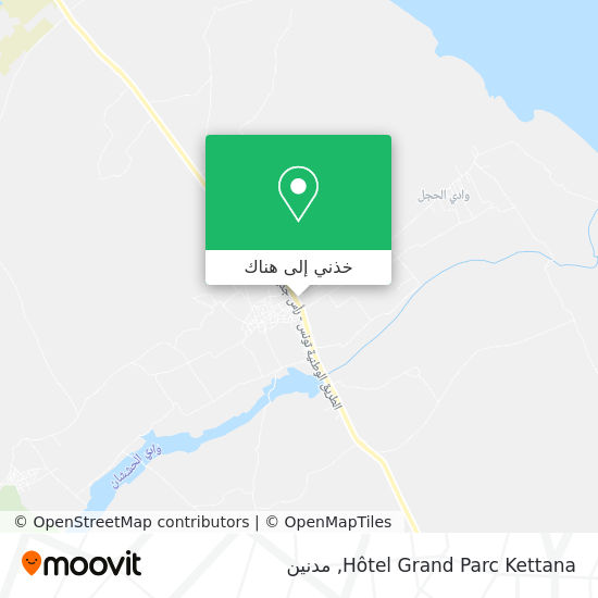 خريطة Hôtel Grand Parc Kettana