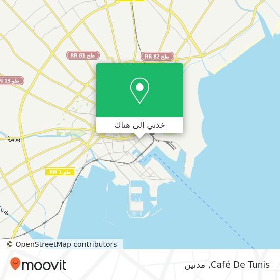 خريطة Café De Tunis