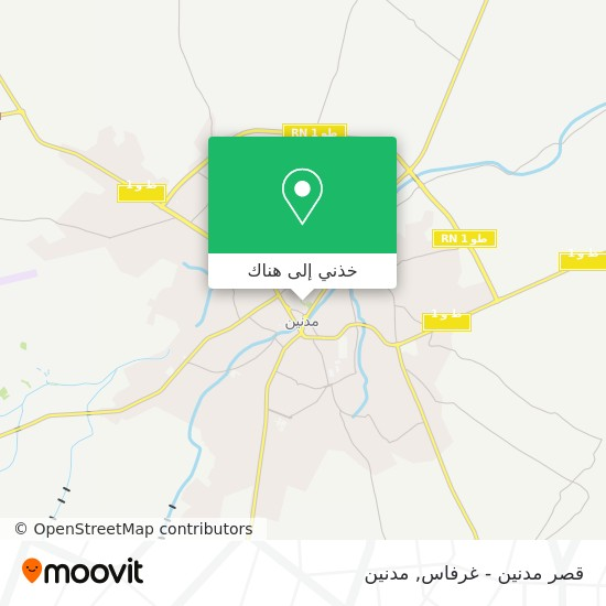 خريطة قصر مدنين - غرفاس