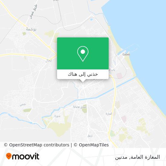 خريطة المغازة العامة