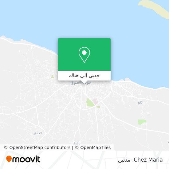 خريطة Chez Maria