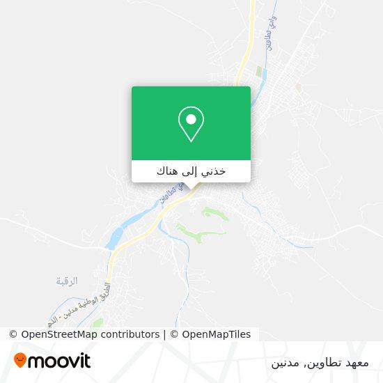 خريطة Lycée Mixtetataouine  معهد تطاوين