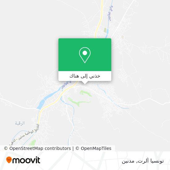 خريطة Tunisia Alert