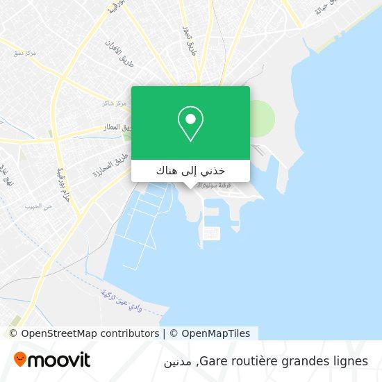 خريطة Gare routière grandes lignes