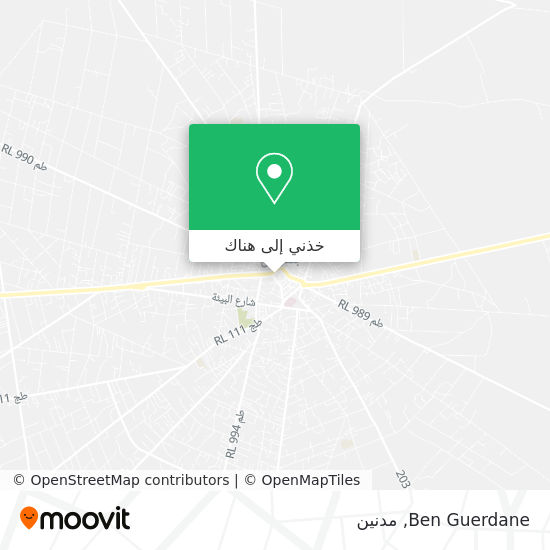 خريطة Ben Guerdane