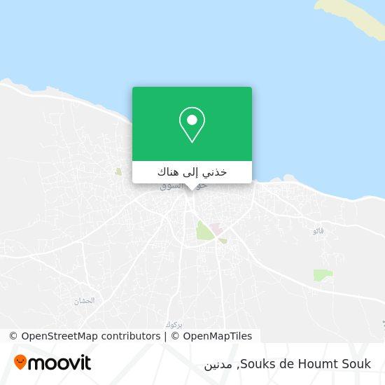 خريطة Souks de Houmt Souk