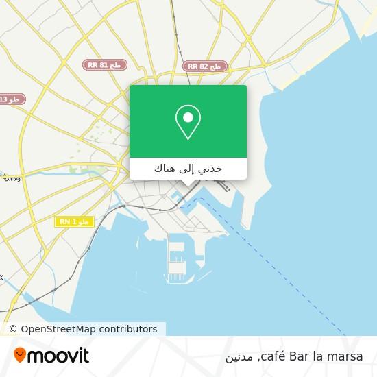 خريطة café Bar  la marsa