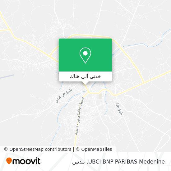 خريطة UBCI BNP PARIBAS Medenine