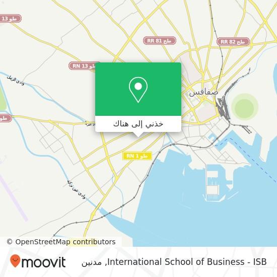 خريطة International School of Business - ISB