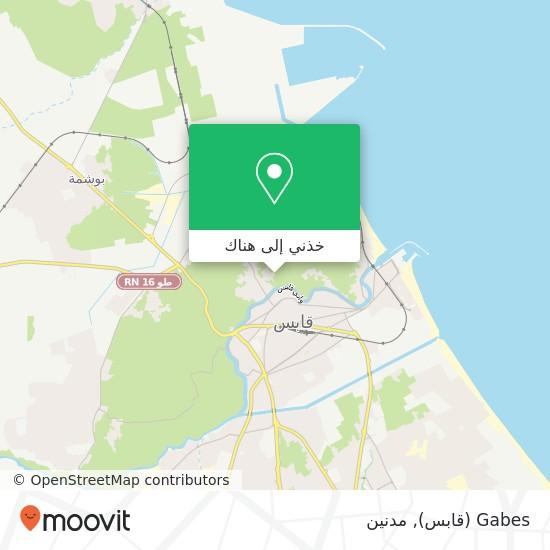 خريطة Gabes (قابس)