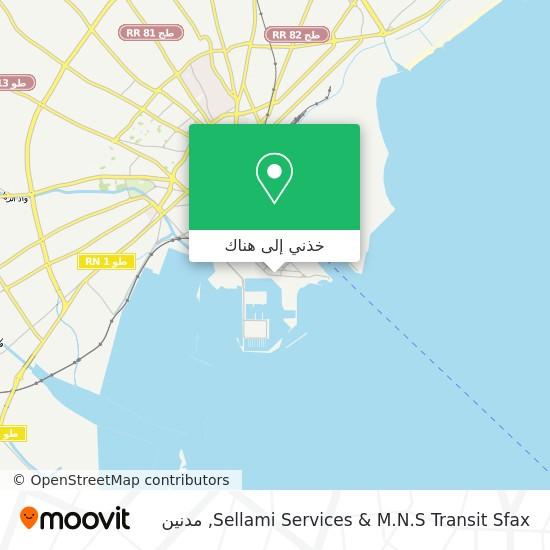 خريطة Sellami Services & M.N.S Transit Sfax
