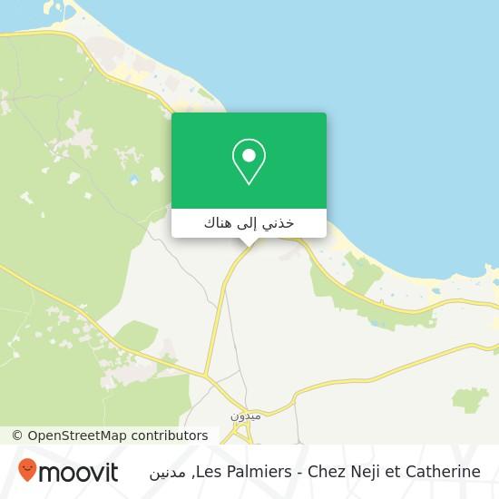خريطة Les Palmiers - Chez Neji et Catherine