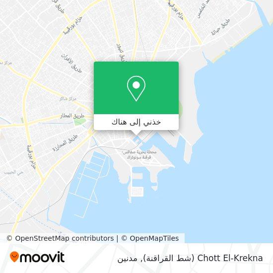خريطة Chott El-Krekna (شط القراقنة)