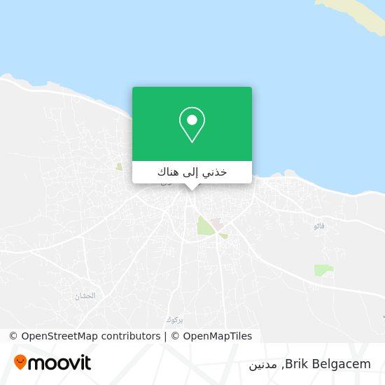 خريطة Brik Belgacem