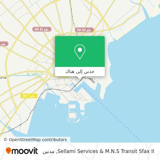 خريطة Sellami Services & M.N.S Transit Sfax II