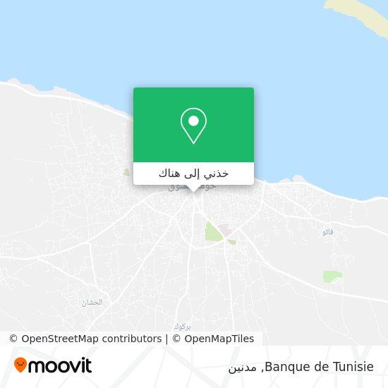 خريطة Banque de Tunisie
