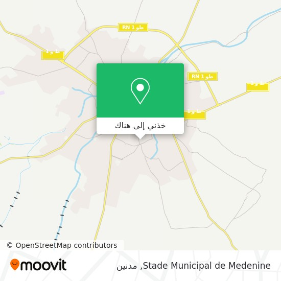 خريطة Stade Municipal de Medenine