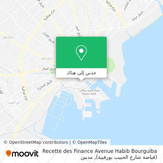 خريطة Recette des Finance Avenue  Habib Bourguiba (قباضة شارع الحبيب بورقيبة)