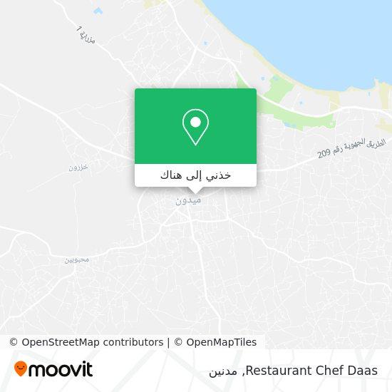 خريطة Restaurant Chef Daas