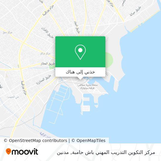 خريطة مركز التكوين التدريب المهني باش حامبة