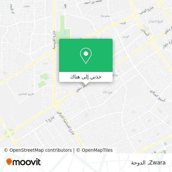 خريطة Zwara