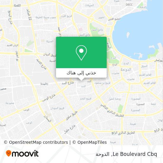 خريطة Le Boulevard Cbq
