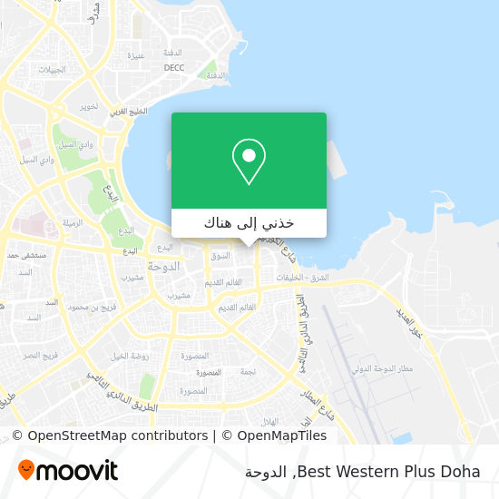 خريطة Best Western Plus Doha