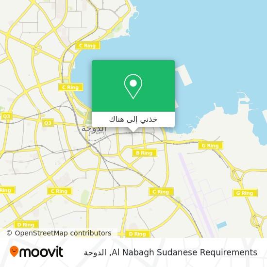 خريطة Al Nabagh Sudanese Requirements