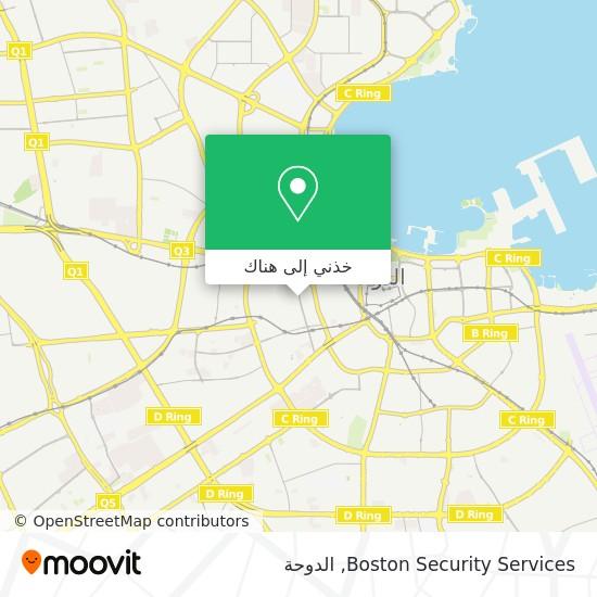 خريطة Boston Security Services