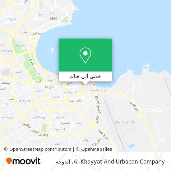 خريطة Al-Khayyat And Urbacon Company