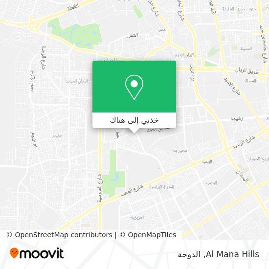 خريطة Al Mana Hills