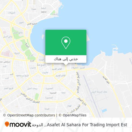 خريطة Asafet Al Sahara For Trading Import Est.