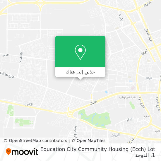 خريطة Education City Community Housing (Ecch) Lot 1