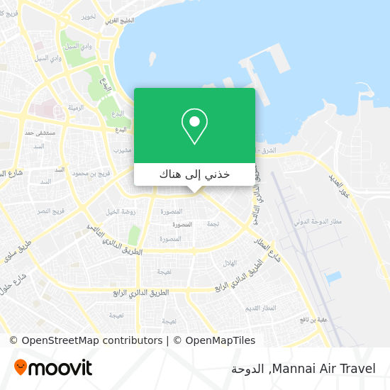 خريطة Mannai Air Travel