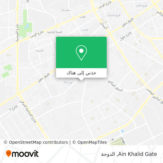 خريطة Ain Khalid Gate