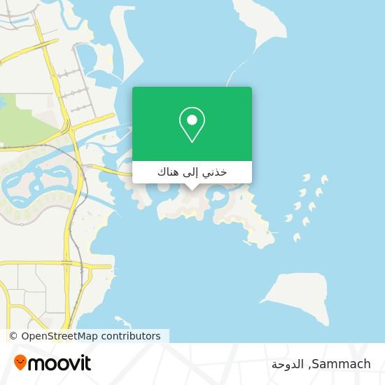 خريطة Sammach