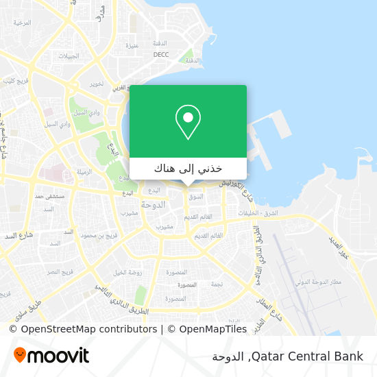 خريطة Qatar Central Bank