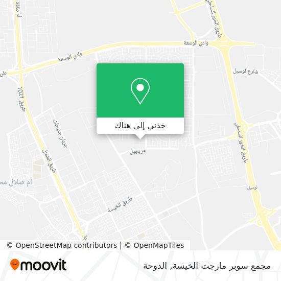 خريطة مجمع سوبر مارجت الخيسة