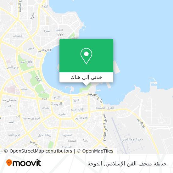 خريطة حديقة متحف الفن الإسلامي