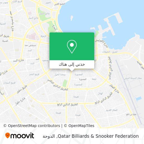 خريطة Qatar Billiards & Snooker Federation