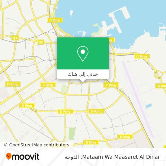 خريطة Mataam Wa Maasaret Al Dinar